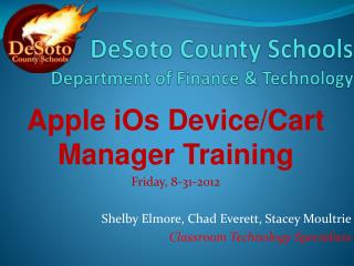 DeSoto  County Schools Department of Finance & Technology