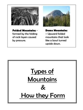Types of Mountains  &  How they Form