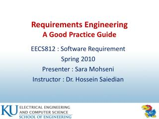 Requirements Engineering  A Good Practice Guide