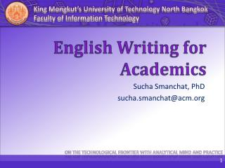 English Writing for Academics