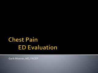 Chest Pain ED Evaluation