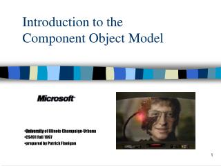 Introduction to the Component Object Model