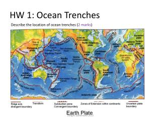 HW 1: Ocean Trenches