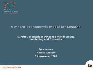 A macro-econometric model for Lesotho
