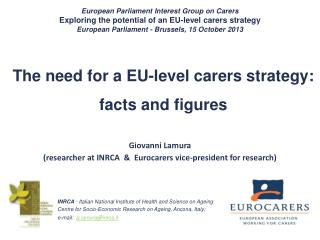 The need for a EU-level carers strategy: facts and figures