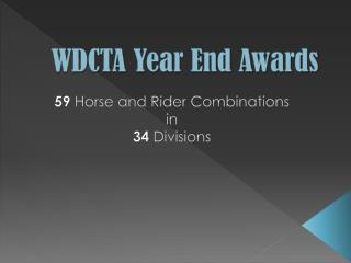 WDCTA Year End Awards