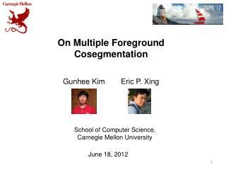 On Multiple Foreground Cosegmentation