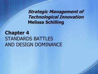 Chapter 4 STANDARDS BATTLES  AND DESIGN DOMINANCE