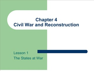 Chapter 4  Civil War and Reconstruction