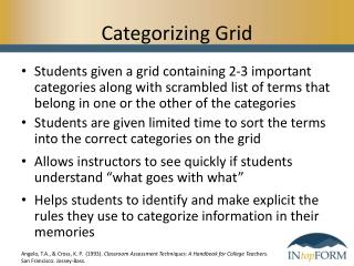Categorizing Grid