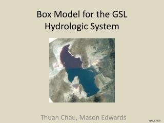Box Model for the GSL Hydrologic System