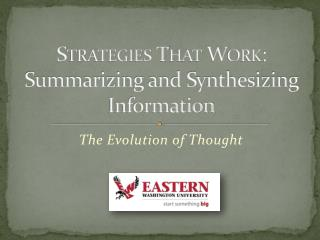 Strategies That Work: Summarizing and Synthesizing Information