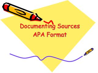 Documenting Sources APA Format