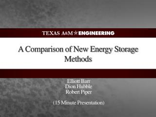 A Comparison of New Energy Storage Methods