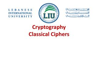 Cryptography Classical Ciphers