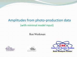 Amplitudes from photo-production  d ata  (with minimal model input)