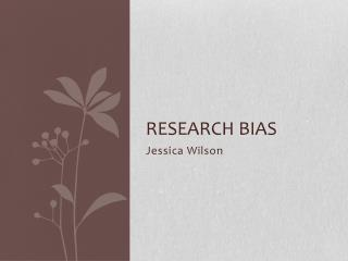 Research Bias