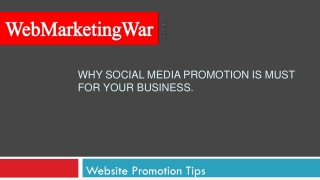 Why Social Media Promotion Is Must For Your Business