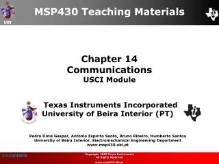 Chapter 14 Communications USCI Module