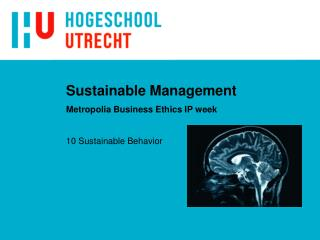 Sustainable Management Metropolia Business Ethics IP week
