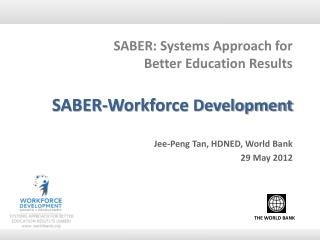 SABER: Systems Approach for  Better Education Results SABER-Workforce  Development