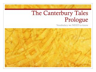 The Canterbury Tales Prologue
