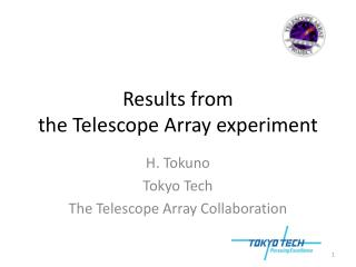 R esults from  the Telescope Array experiment