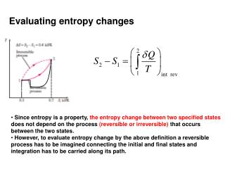 Evaluating entropy changes