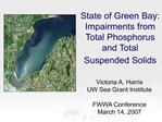 State of Green Bay: Impairments from Total Phosphorus and Total Suspended Solids