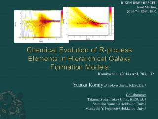 Chemical  E volution of R- p rocess  E lements in Hierarchical  G alaxy  F ormation Models