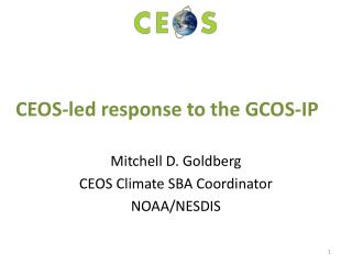 CEOS-led response to the GCOS-IP