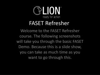 FASET Refresher
