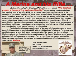 A Marine and his Rifle