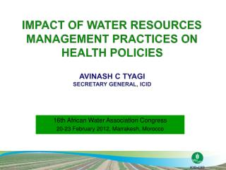 16th African Water Association  Congress  20-23  February 2012, Marrakesh, Morocco