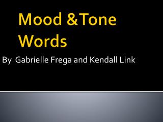 Mood &Tone Words