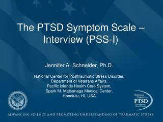 The PTSD Symptom Scale – Interview (PSS-I)