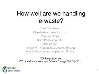 How well are we handling  e-waste?