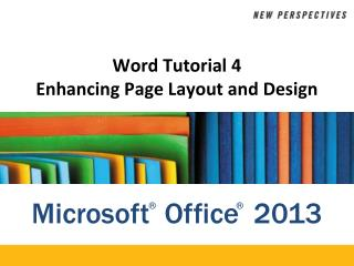 Word Tutorial 4 Enhancing Page Layout and Design