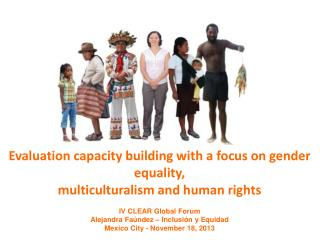 Evaluation capacity building with a focus on gender equality, multiculturalism and human rights