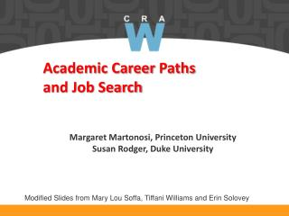 Academic Career  Paths  and Job Search