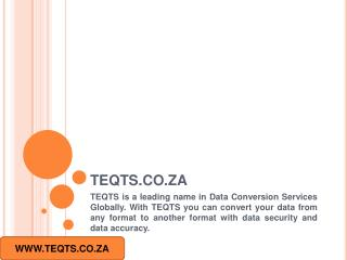 Data Conversion Services Johannesburg