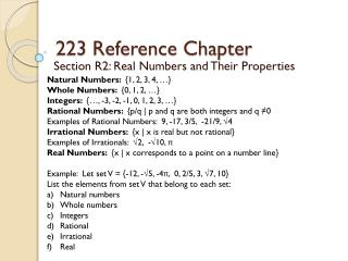 223 Reference Chapter