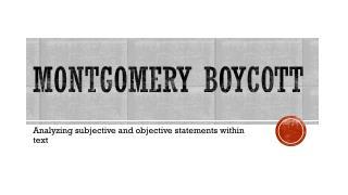 Montgomery boycott