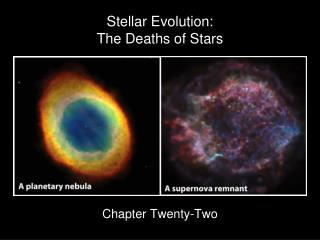 Stellar Evolution: The Deaths of Stars