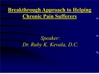 Breakthrough Approach to Helping  Chronic Pain Sufferers