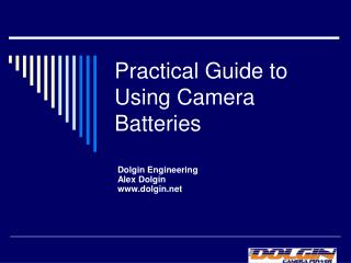 Practical Guide to Using Camera Batteries