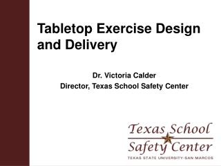 Tabletop Exercise Design and Delivery
