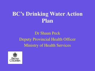 BC s Drinking Water Action Plan