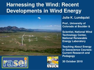 Harnessing the Wind: Recent Developments in Wind Energy