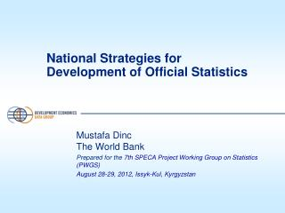National Strategies for Development of Official  Statistics